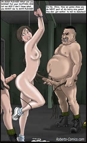 The Toon Slut Is Bound And About To Be Forced Into Sex With Two Guys