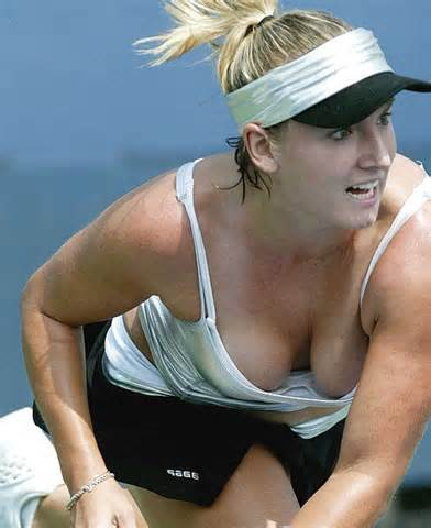 Tennis player boob