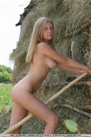 Girl From The Farm Next Door Plays In The Hay In The Nude Sublime