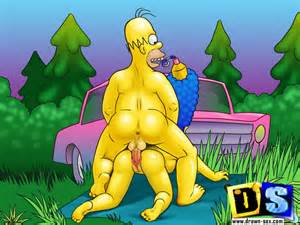 Nasty Cartoon Homer Simpson Fucked His Wife Marge From Behind Doggy St